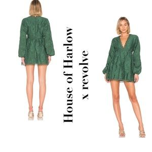 NWT House of Harlow x REVOLVE green Edwin dress